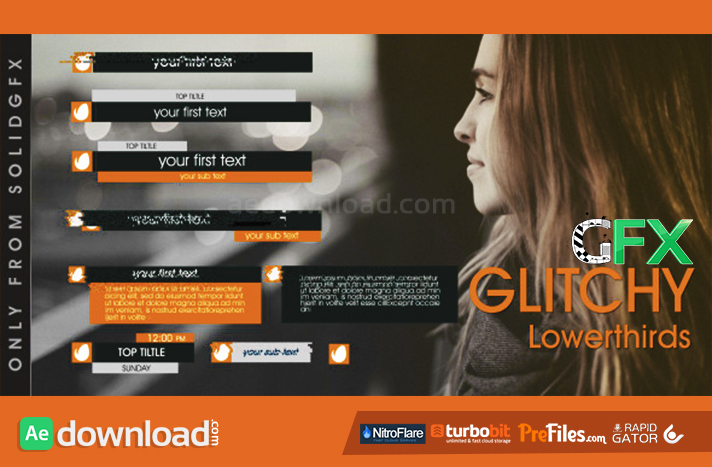 Glitchy Lowerthirds Free Download After Effects Templates