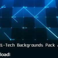 VIDEOHIVE HI-TECH BACKGROUNDS PACK 2