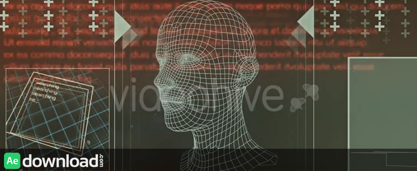 VIDEOHIVE 3D MORPHING FACES IN SEARCH INTERFACE - MOTION GRAPHIC