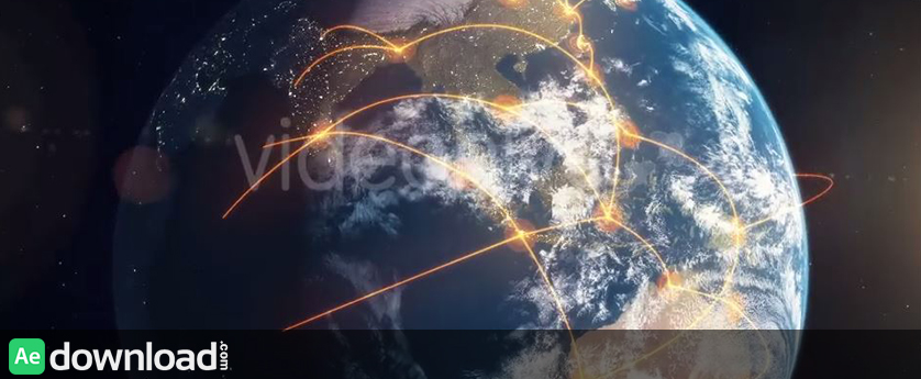 VIDEOHIVE GLOBAL NETWORK - ORANGE - MOTION GRAPHICS
