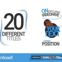 VIDEOHIVE 20 DIFFERENT TITLES – FREE DOWNLOAD