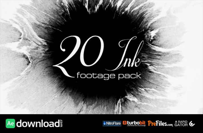 20 Ink footage pack (Stock Footage) Free Download After Effects Templates