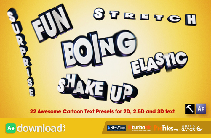 22 Awesome Cartoon Text Presets