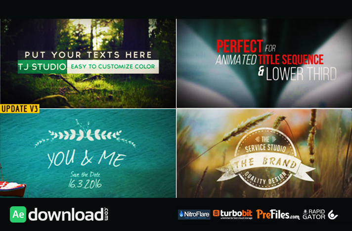 78 Title Animation Pack Free Download After Effects Templates