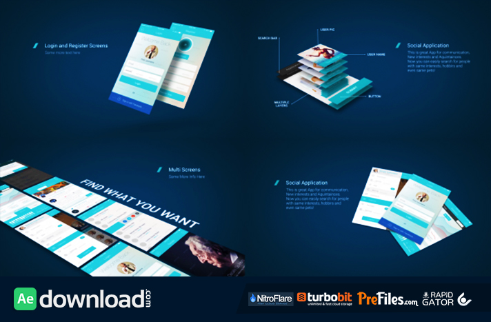 App Presentation Mockup Kit Free Download After Effects Templates