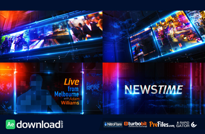 after effects news templates free download rar
