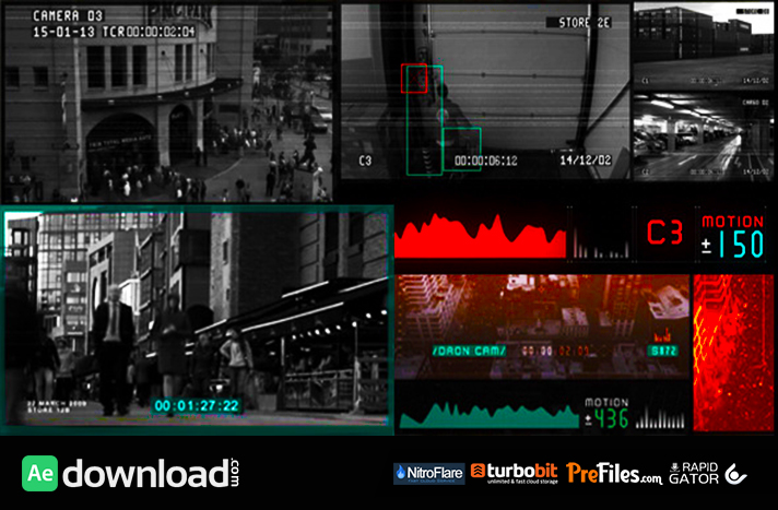 CCTV Surveillance Pack Free Download After Effects Templates
