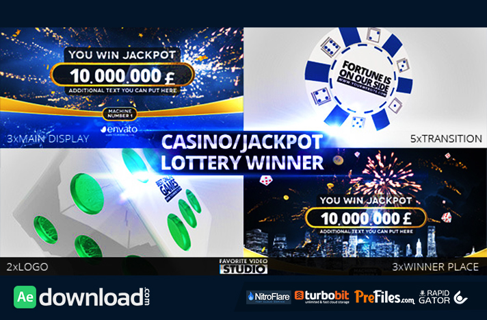Casino Jackpot Lottery Winner Free Download After Effects Templates