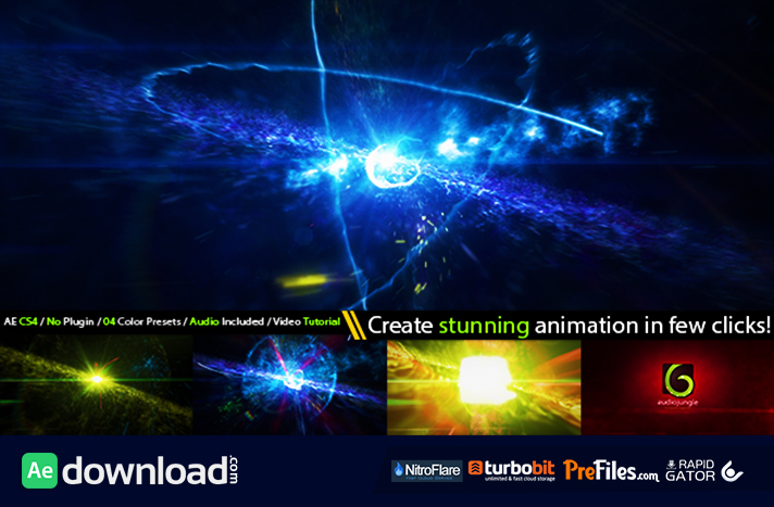 Cinematic Space Particles Explosion Logo Intro Free Download After Effects Templates
