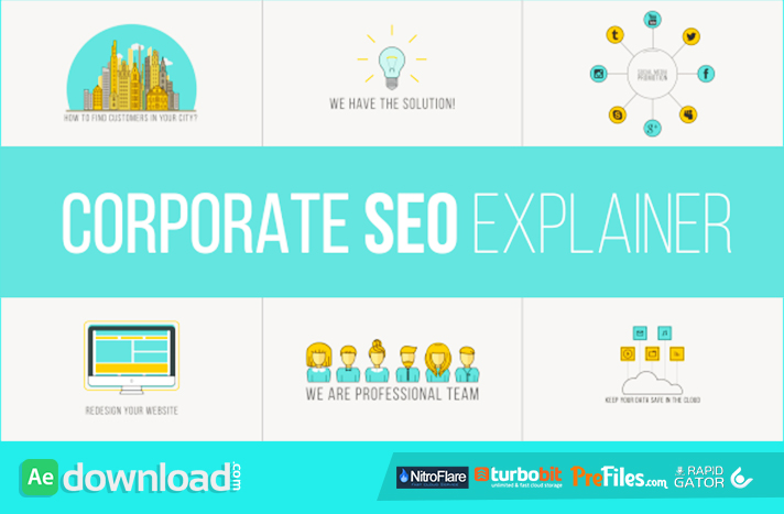 Corporate SEO Explainer Free Download After Effects Templates