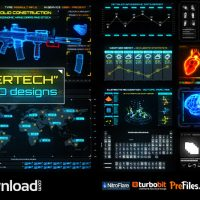 CYBERTECH HUD INFOGRAPHIC PACK (VIDEOHIVE PROJECT) – FREE DOWNLOAD