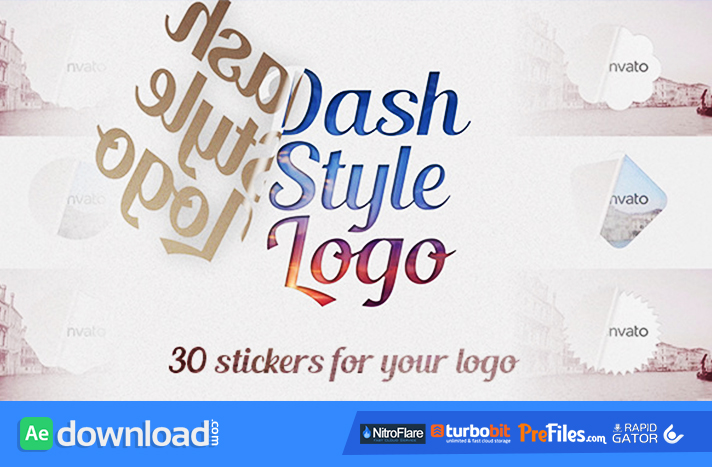 Dash Style Logo Free Download After Effects Templates