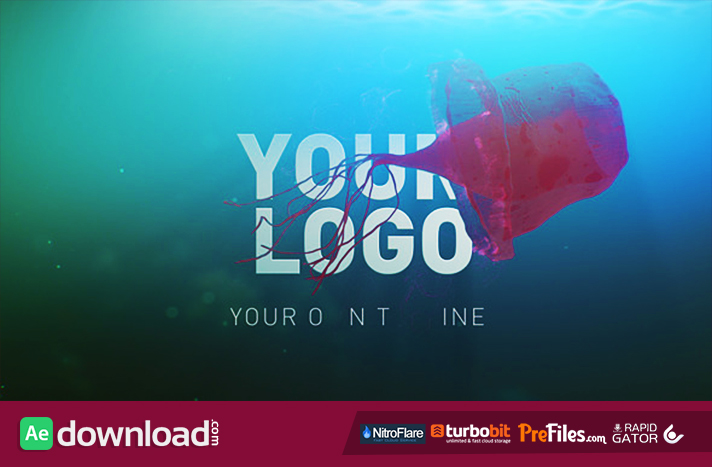 Deep Sea Jellyfish Logo Reveal Free Download After Effects Templates