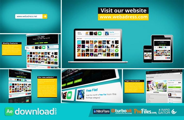 Dynamic Website Promotion Free Download After Effects Templates