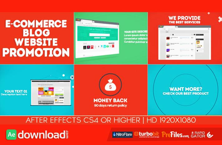 E-commerce Blog Website PromotionFree Download After Effects Templates