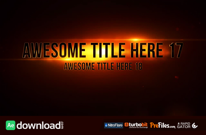 EPIC TITLES (MOTION ARRAY) Free Download After Effects Templates