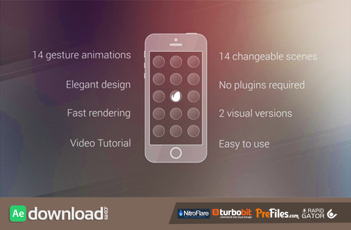 Elegant App Promo Free Download After Effects Templates