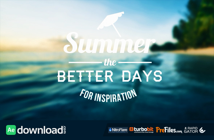 Epic Summer Days Opener Free Download After Effects Templates