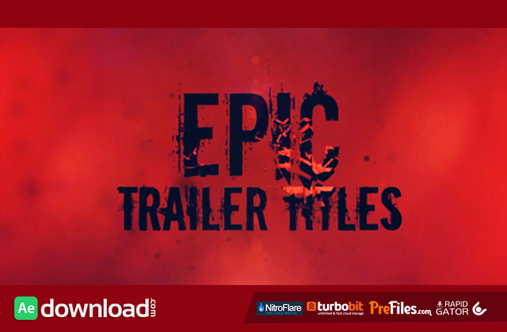 Epic Trailer Titles Free Download After Effects Templates