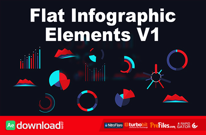 Flat Infographic Elements V1 Free Download After Effects Templates