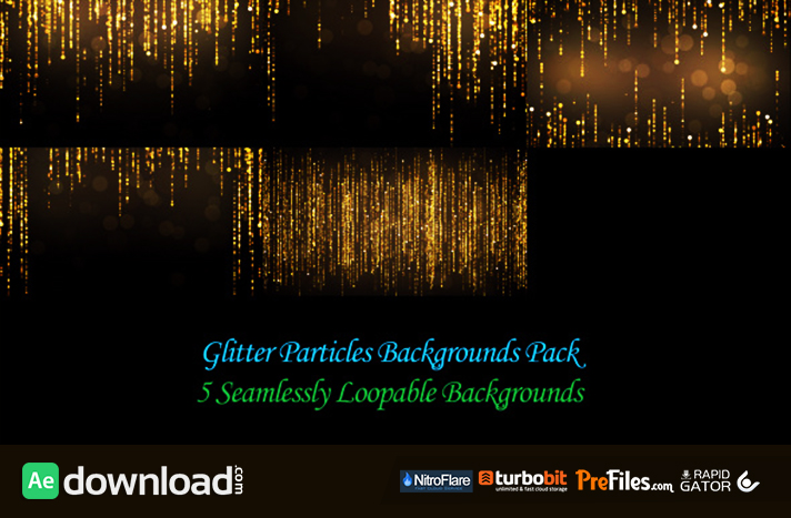 Glitter Particles Backgrounds Pack Free Download After Effects Templates