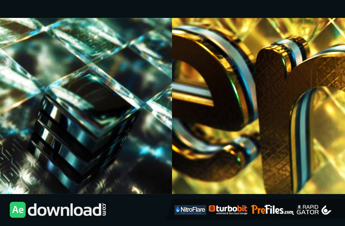 Gold & Black Crystallized Glass Logo Reveal Free Download After Effects Templates