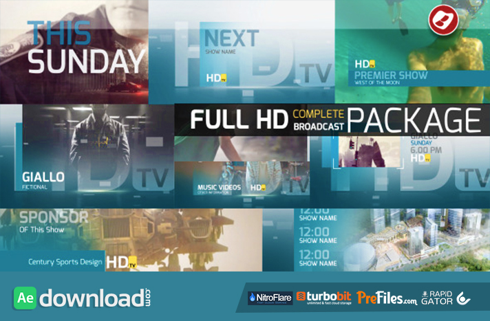 HDtv Complete Broadcast Package Free Download After Effects Templates