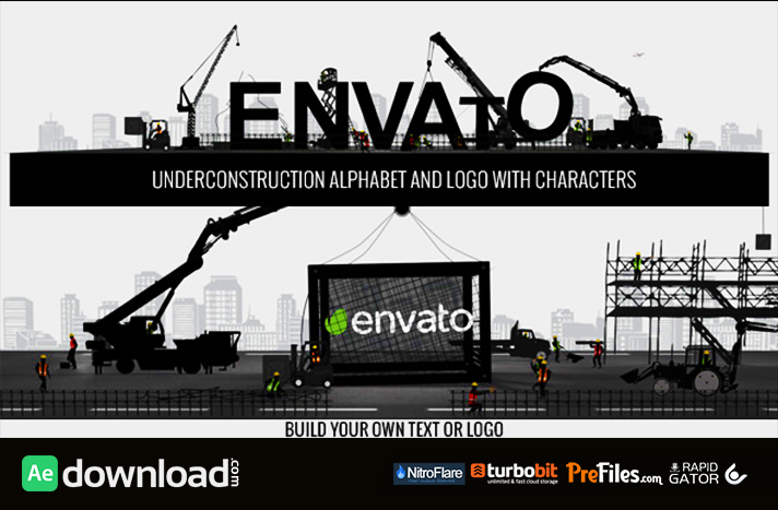 Logo Constructor-Alphabet Builder With Characters Free Download After Effects Templates