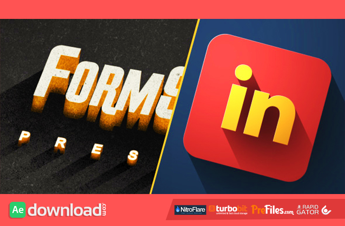 Long Shadow Titles & Logo Pack Free Download After Effects Templates