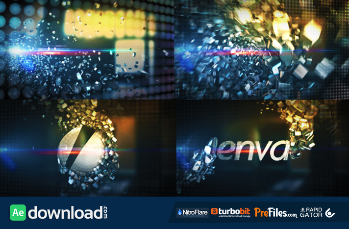 Metallic Crystal Logo Text Reveal Free Download After Effects Templates