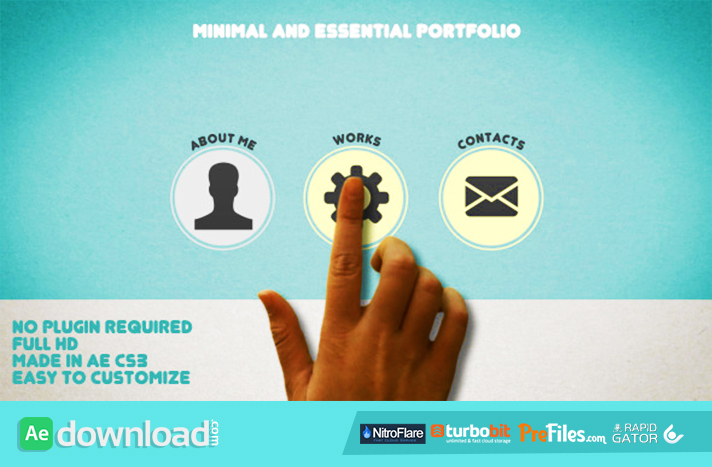 Minimal and Essential Portfolio Free Download After Effects Templates