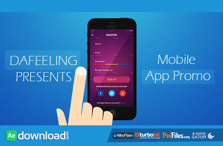 Mobile App Promo Free Download After Effects Templates