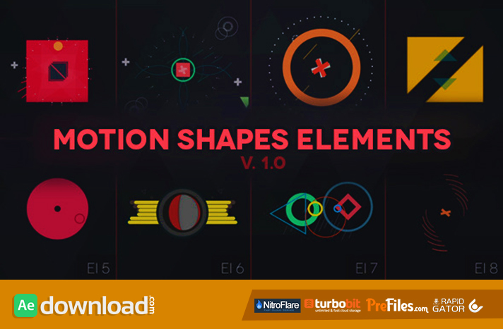 Motion Shapes - Animated Elements Free Download After Effects Templates