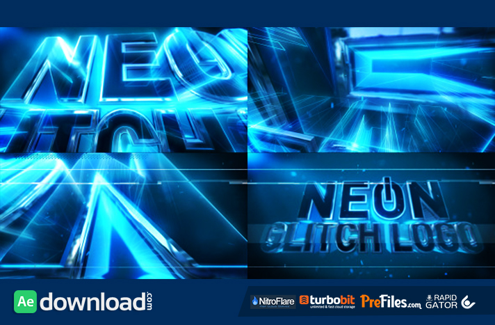 Neon Glitch Logo Free Download After Effects Templates