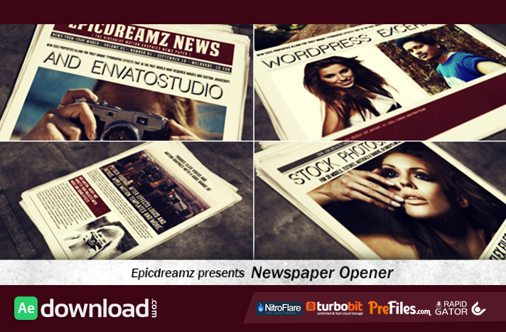 Newspaper Opener Free Download After Effects Templates
