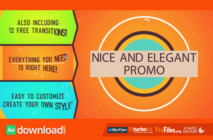 Nice and Elegant Promo Free Download After Effects Templates