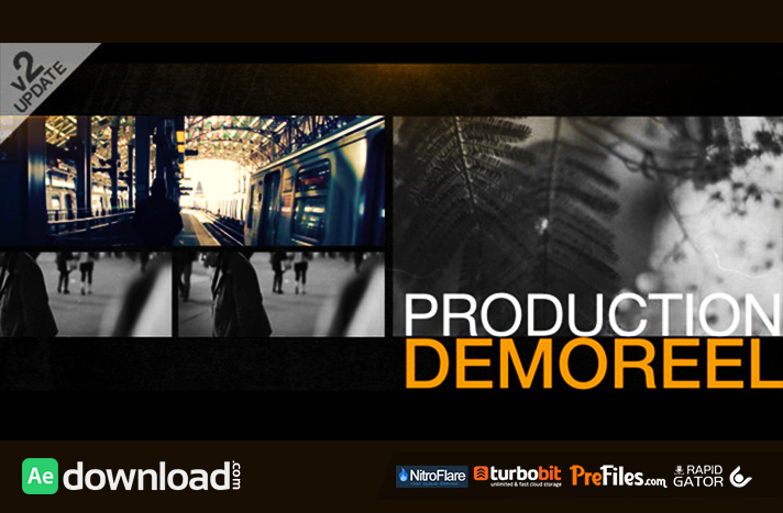 Production Demo Reel Free Download After Effects Templates