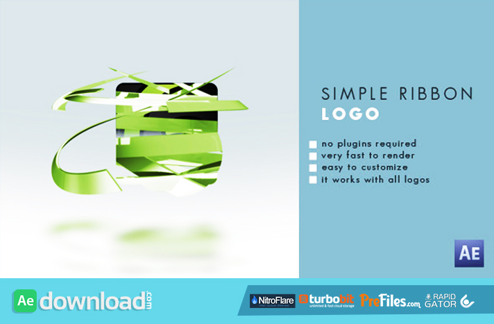 Simple Ribbon Logo Free Download After Effects Templates