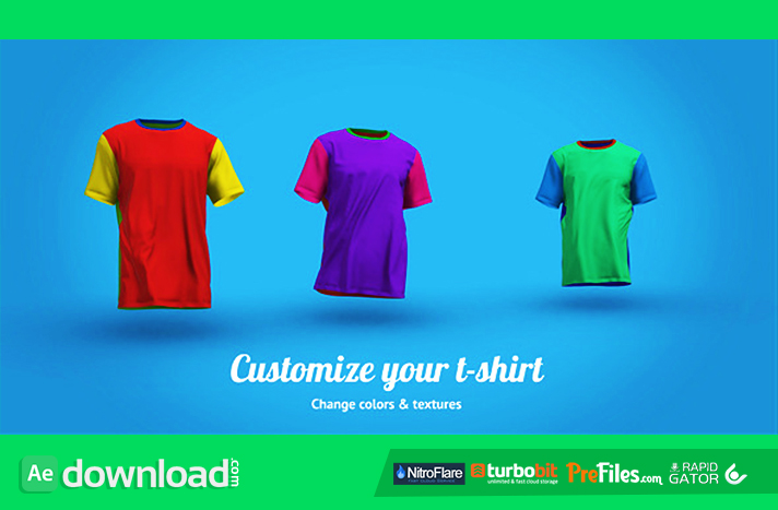 T-Shirt Walk Free Download After Effects Templates