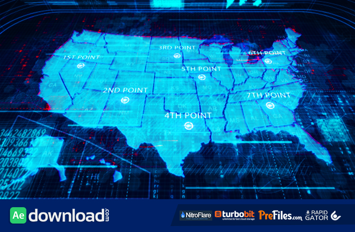 USA Map Free Download After Effects Templates