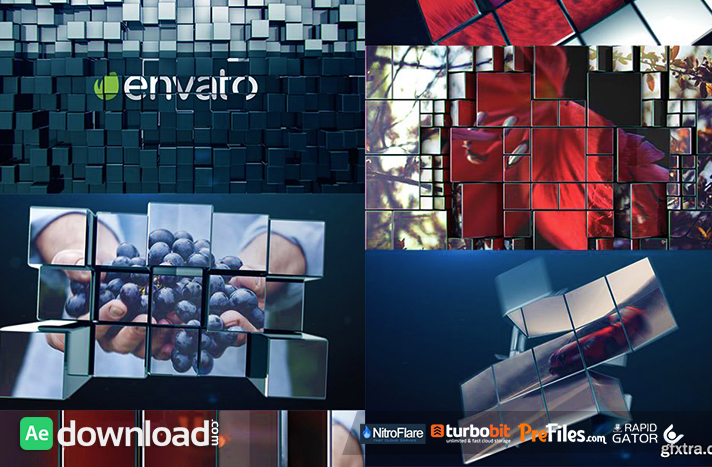 VIDEOHIVE 3D DYNAMIC CUBES PROMO Free Download After Effects Templates