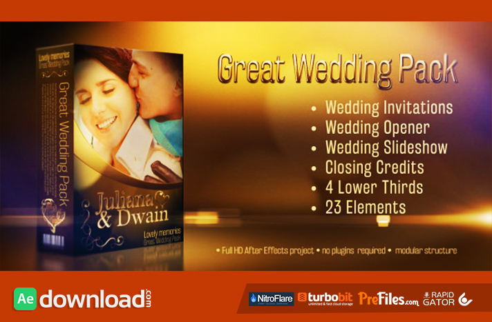 Wedding Pack - Lovely Memories Free Download After Effects Templates