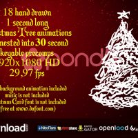 18 CHRISTMAS TREES POND5 FREE AFTER EFFECTS TEMPLATE