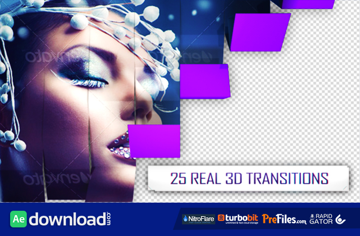 25 3D Transitions Pack