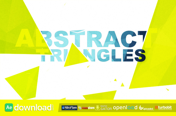 Abstract Triangles Logo Reveal free download