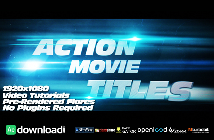Action Movie Titles free download (videohive template)