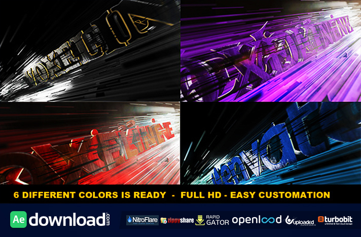 Aggressive Logo Reveal (videohive template)
