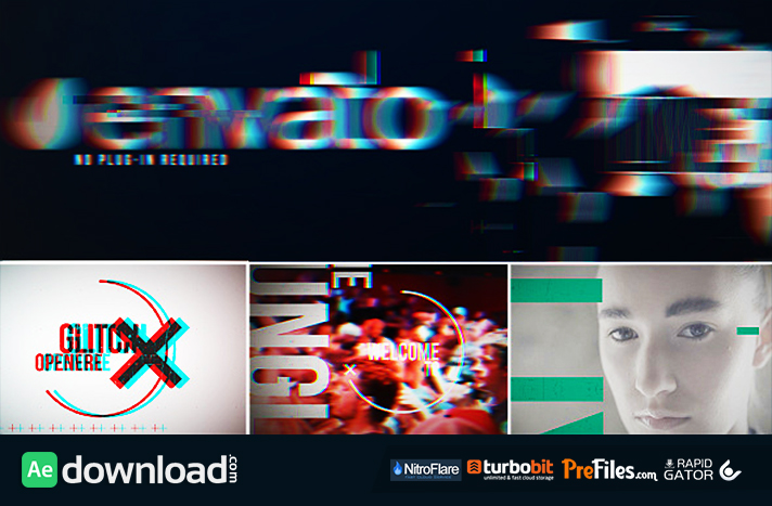 Glitch Opener Free Download After Effects Templates