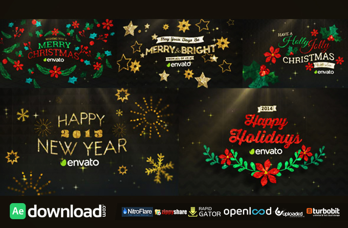 Hanging Holiday Greetings Pack free download (videohive template)
