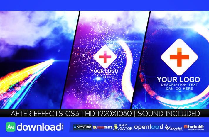 Light Streak Logo Reveal free download (videohive template)
